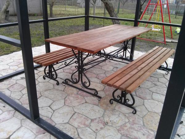 Скамейка «Кованный стол»