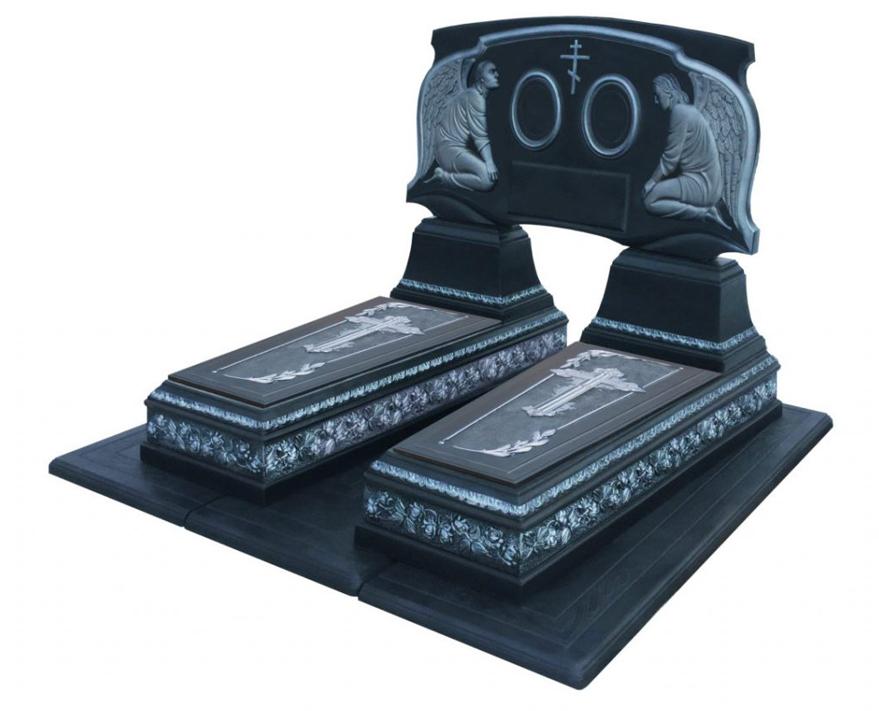Двойной памятник  «Роза Графит»