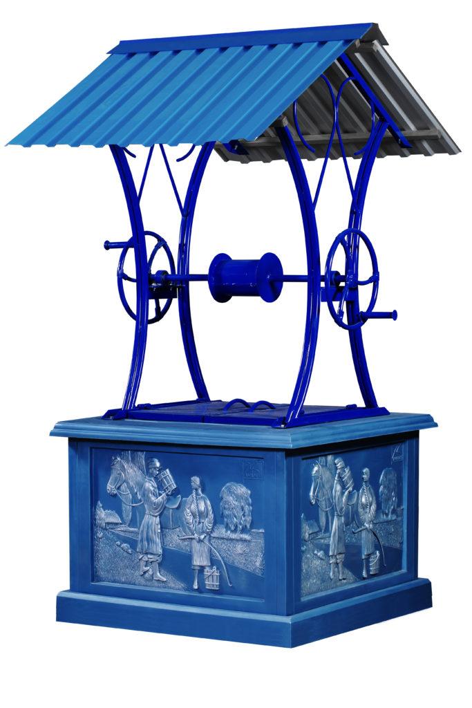Домик для колодца «Открытый ‑ Синий»