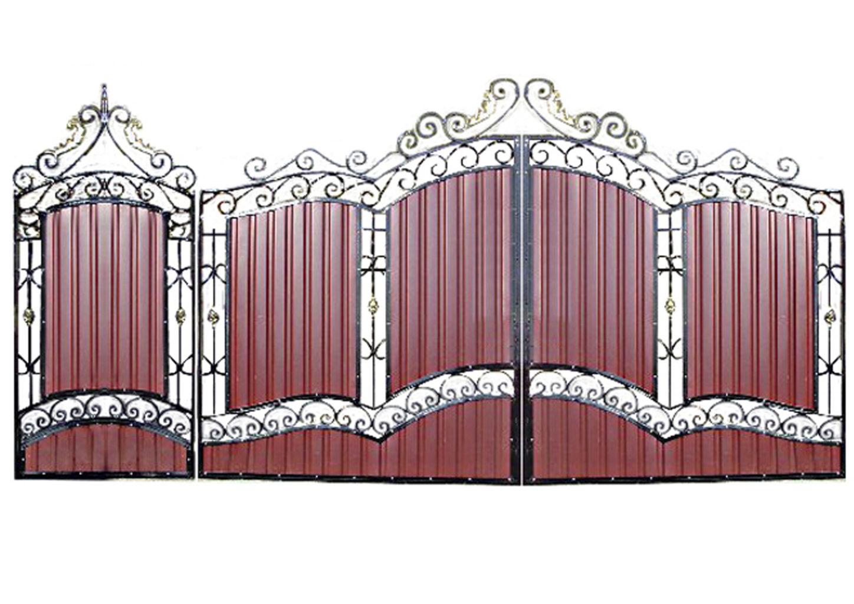 Ворота металлические №12
