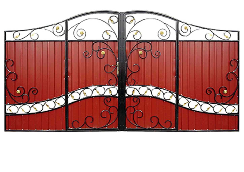 Ворота металлические №15