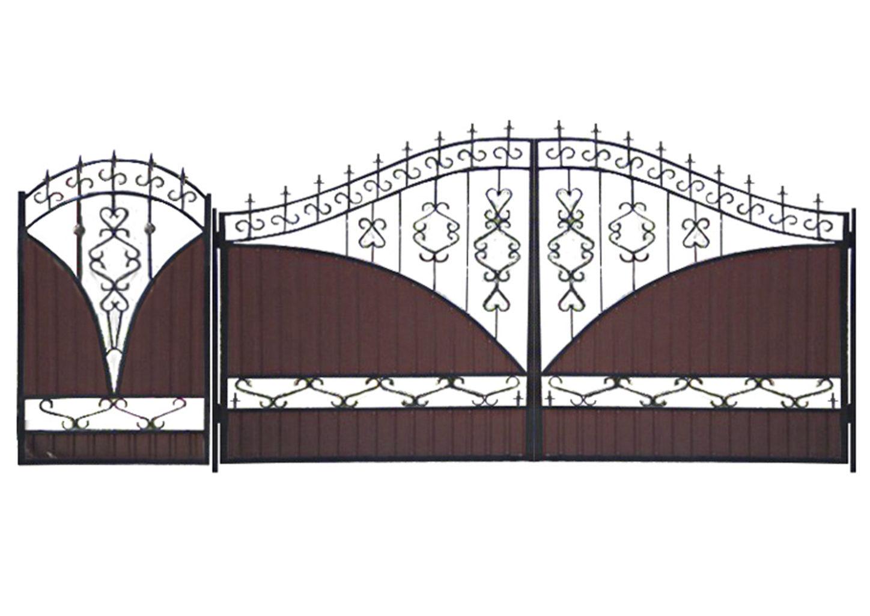 Ворота металлические №17