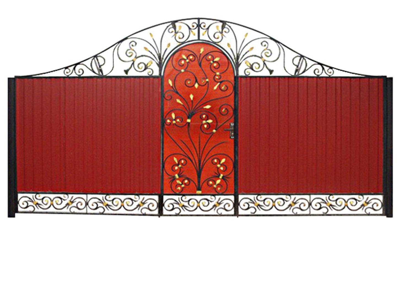 Ворота металлические №18