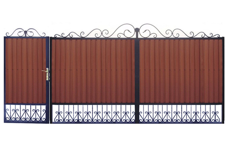 Ворота металлические №19