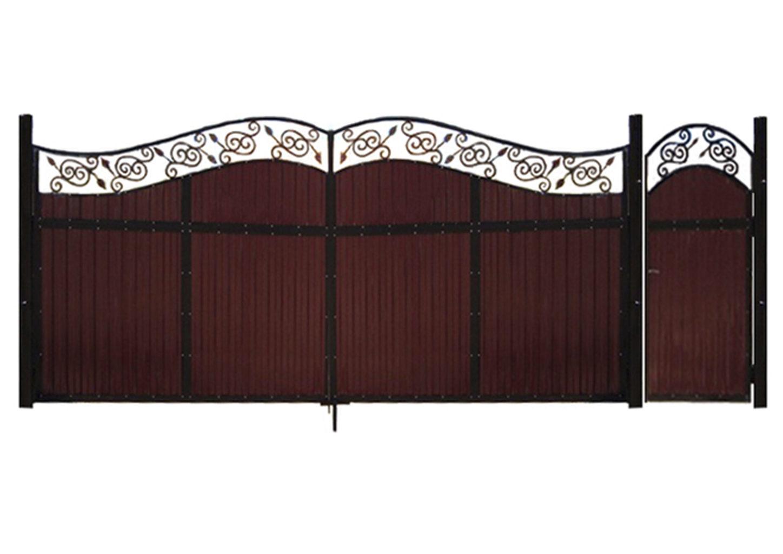 Ворота металлические №22