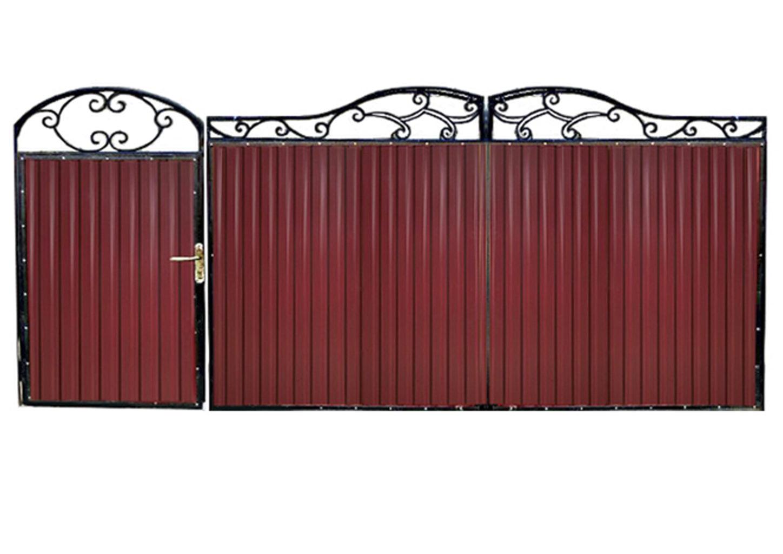 Ворота металлические №4