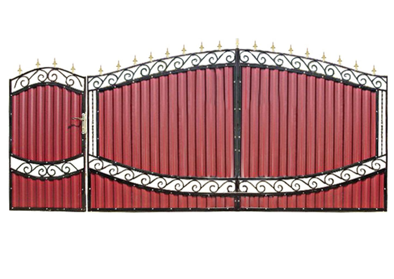 Ворота металлические №5