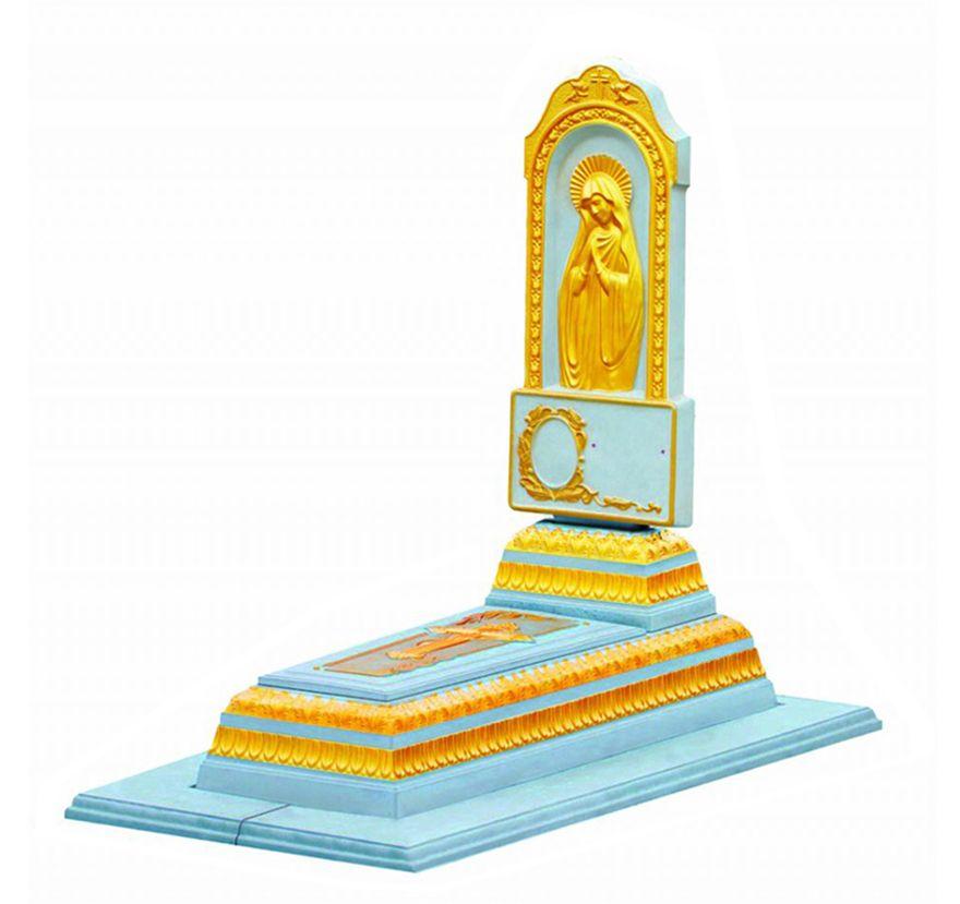 Бетонный памятник «Лавр ‑ Матерь Божья ‑ Позолота»