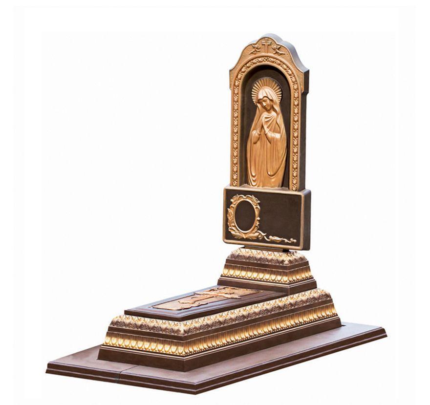 Бетонный памятник «Лавр ‑ Матерь Божья ‑ Коричневый»