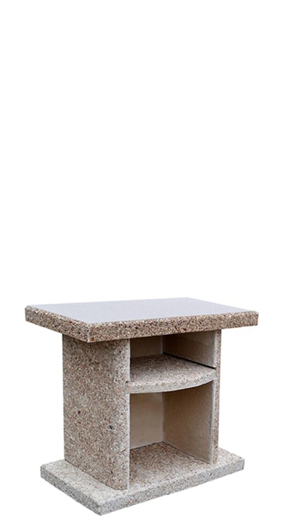 Стол приставной к камину‑барбекю